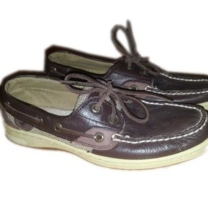 5 for 25 Sperry's brown leather boat shoes
